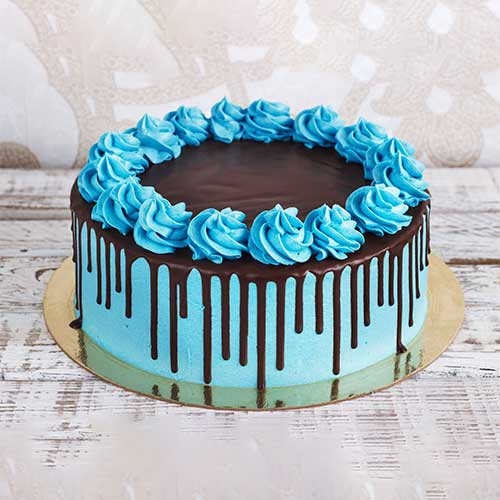 Choco Dripping Cake - Blue