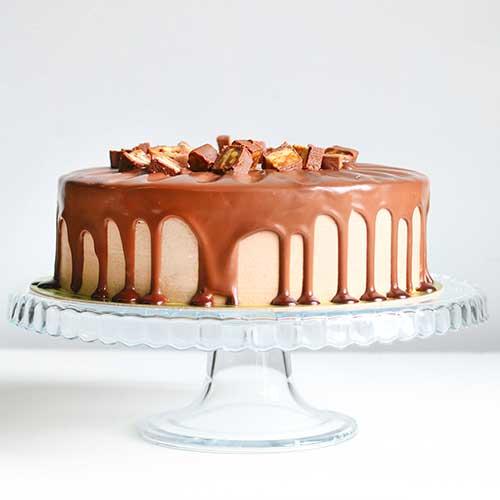 Dripping Caramel Cake