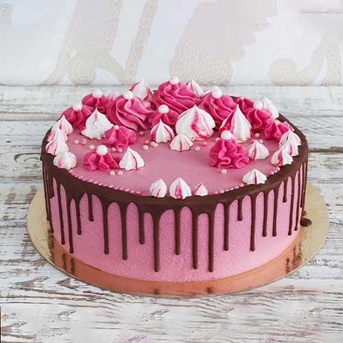 Pink Choco Drip Cake
