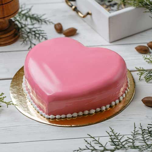 Pink Heart Cake