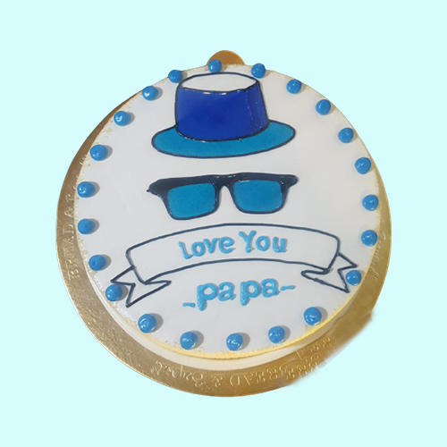 Fathers Day Special Vanilla Cake-3-600gm