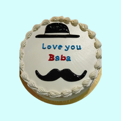 Fathers Day Special Vanilla Cake-600gm
