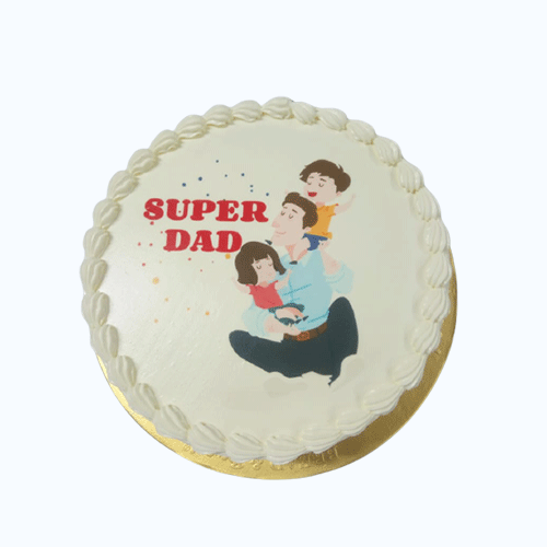Fathers Day Special Vanilla Cake-Printed-2-600gm