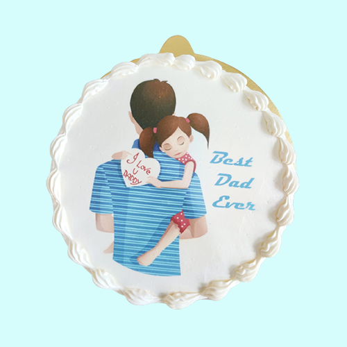 Fathers Day Special Vanilla Cake-Printed-600gm